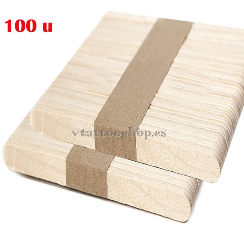 Depresores no estériles de madera 100 uds.