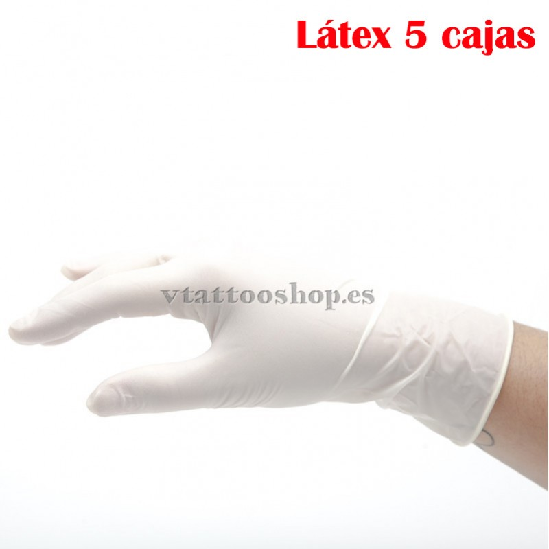 GUANTES LATEX SIN POLVO