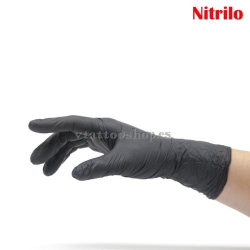 GUANTES DE NITRILO NEGROS 100 uds. (S,M,L,XL)