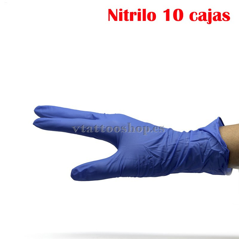 guantes azules sin polvo - VTattoo