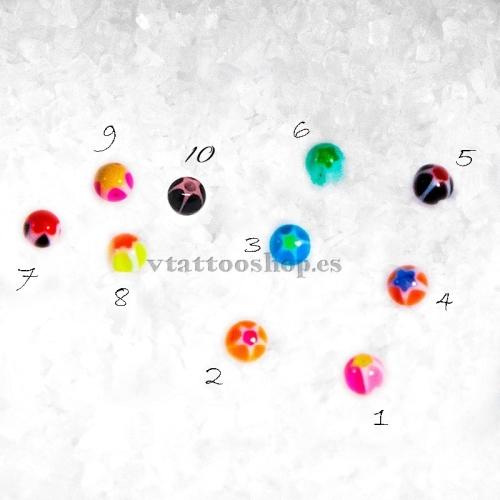 BOLA ESTRELLA 1.2 x 3 mm