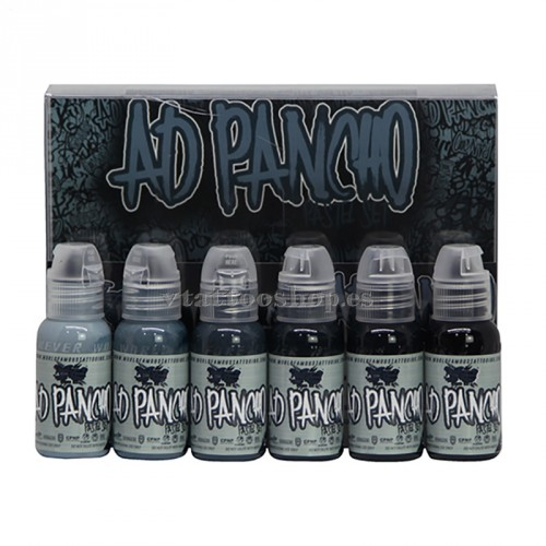 WOLD FAMOUS INK A.D PANCHO Pastel grey set 1oz